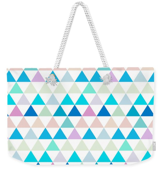 Triangle Abstract Background- Efg206 Weekender Tote Bag