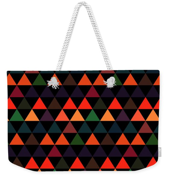 Triangle Abstract Background- Efg208 Weekender Tote Bag