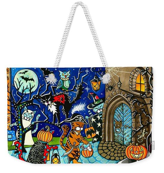 Trick Or Treat Halloween Cats Weekender Tote Bag