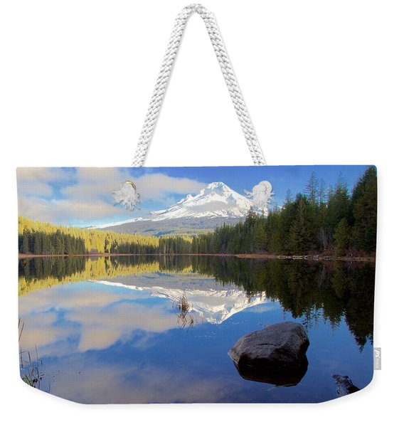 Trillium Lake November Morning Weekender Tote Bag