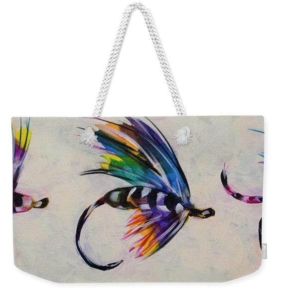 Trio Of Flys Weekender Tote Bag
