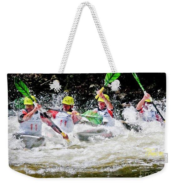 Triple Crown Kayak Race Weekender Tote Bag