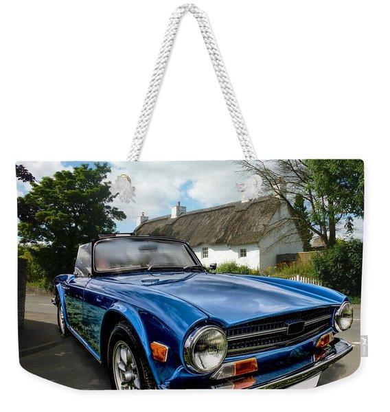 Triumph Tr6 Weekender Tote Bag
