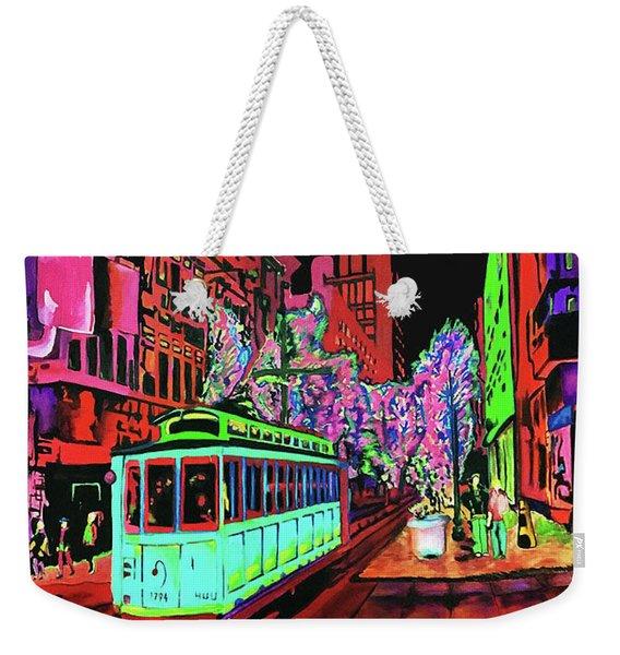 Trolley Night On Main Weekender Tote Bag