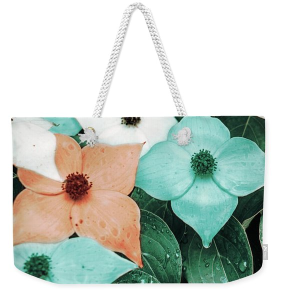 Tropical Dogwood Flowers Weekender Tote Bag