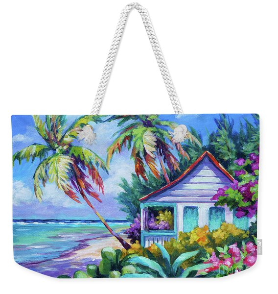 Tropical Island Cottage Weekender Tote Bag