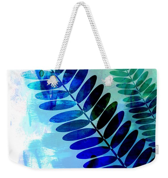 Tropical Leaf Watercolor 3 Weekender Tote Bag