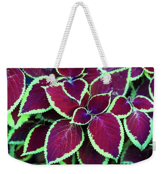 Tropical Leaves Weekender Tote Bag
