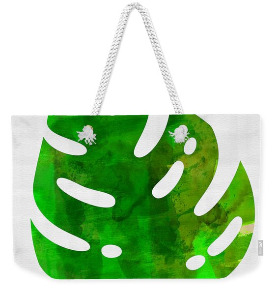 Tropical Monstera Leaf I Weekender Tote Bag
