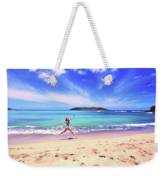 Tropical Spring Weekender Tote Bag