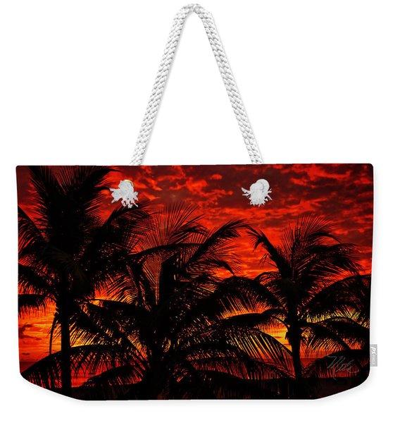 Tropical Sunrise Weekender Tote Bag