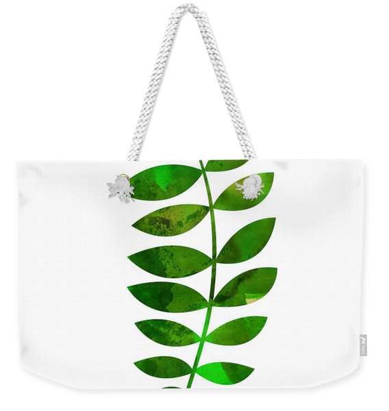 Tropical Zamioculcas Leaf  Weekender Tote Bag