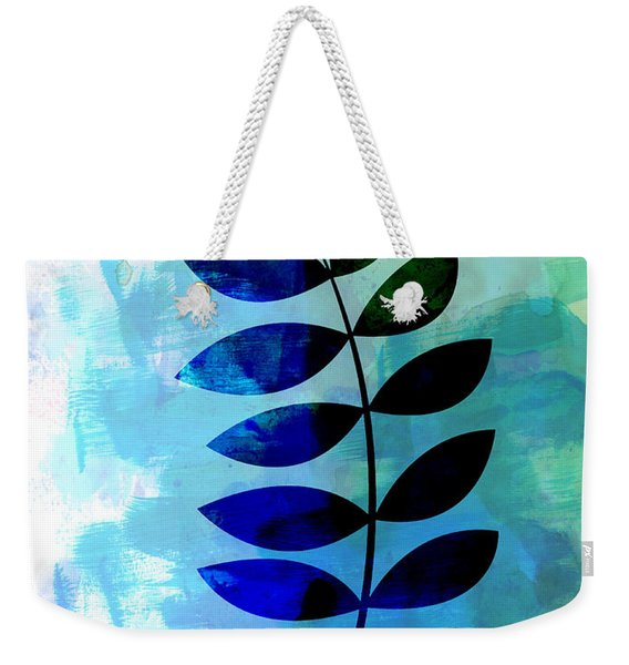 Tropical Zamioculcas Leaf Watercolor Weekender Tote Bag