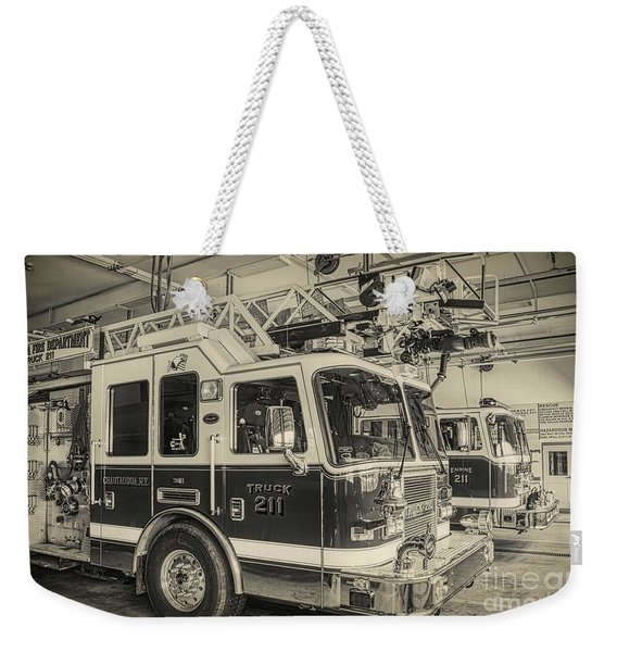 Truck And Engine 211 Weekender Tote Bag