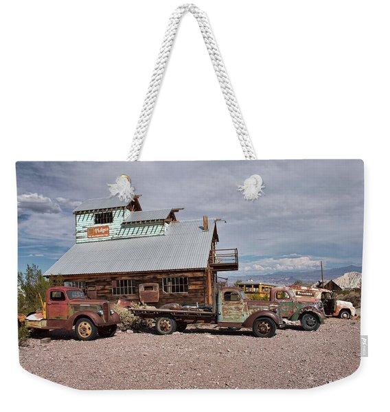 Trucks Lined Up In Nelson Weekender Tote Bag