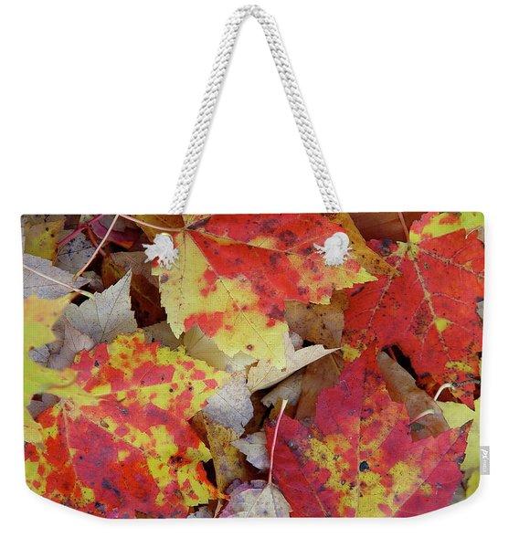 True Autumn Colors Weekender Tote Bag