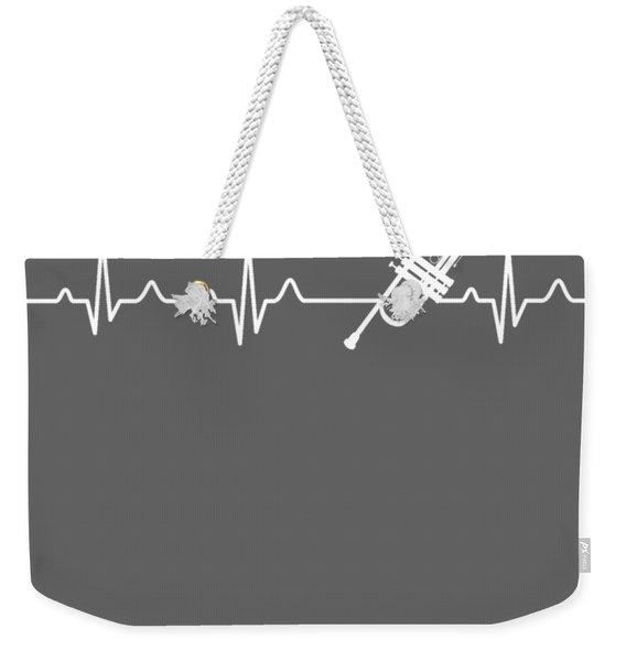 Trumpet Heartbeat For Your Hobbie Tees Weekender Tote Bag