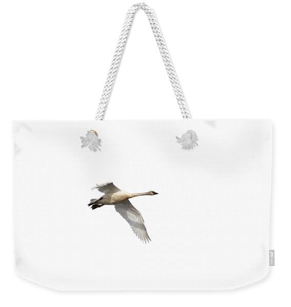 Trumpeter Swan Isolated 2018-1 Weekender Tote Bag