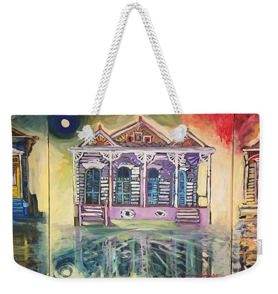 Tryptic On The Bayou New Orleans Weekender Tote Bag