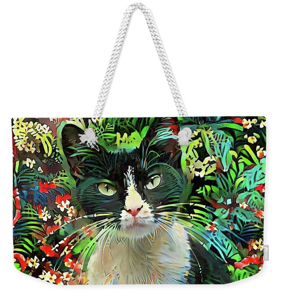 Tucker The Tuxedo Cat Weekender Tote Bag