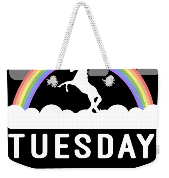 Weekender Tote Bag featuring the digital art Tuesday by Flippin Sweet Gear