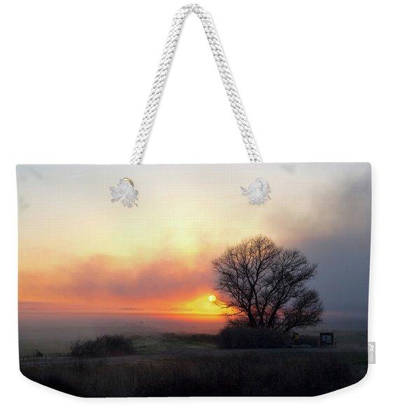 Tule Fog Sunrise  Weekender Tote Bag