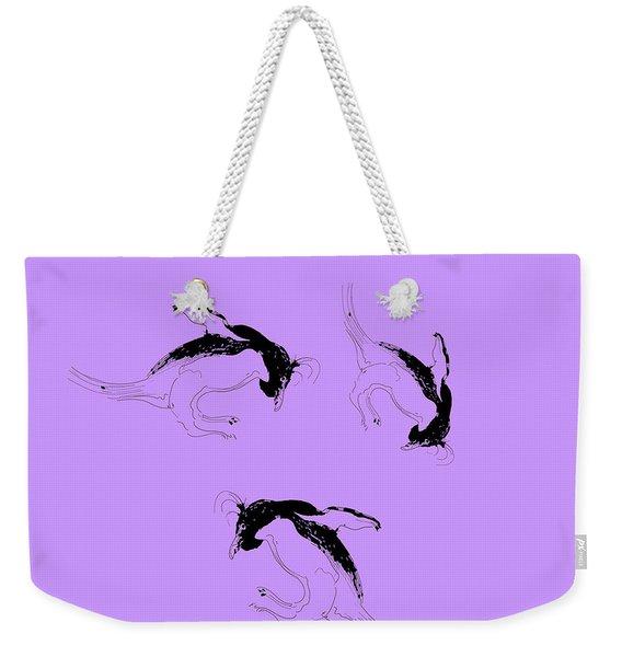Tumbling Penguins Weekender Tote Bag