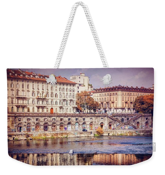 Turin Italy Reflected On The River Po Weekender Tote Bag