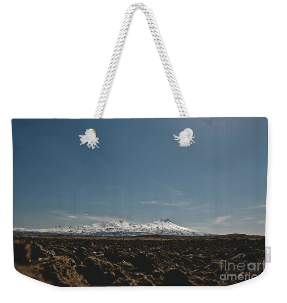 Turkish Landscapes With Snowy Mountains In The Background Weekender Tote Bag
