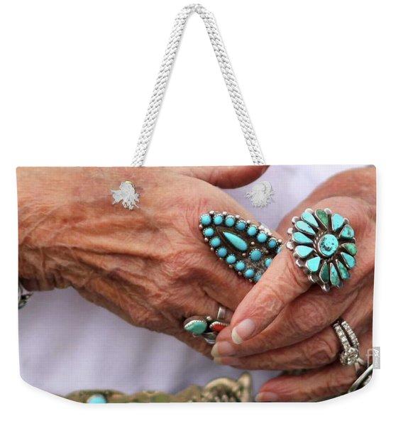 Turquoise Weekender Tote Bag