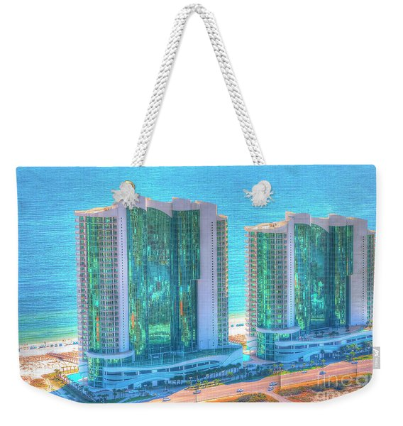 Turquoise Place Weekender Tote Bag