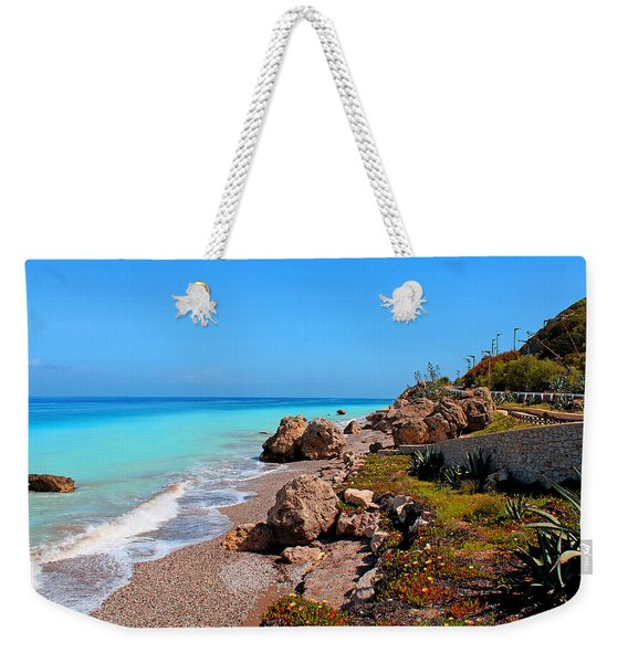 Turquoise Sea And Azure Sky Weekender Tote Bag
