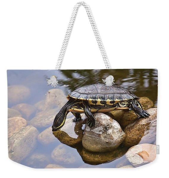 Turtle Drinking Water Weekender Tote Bag