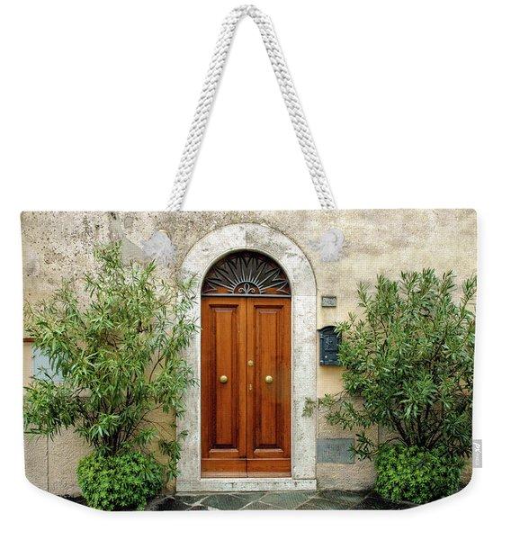 Tuscan Door Weekender Tote Bag