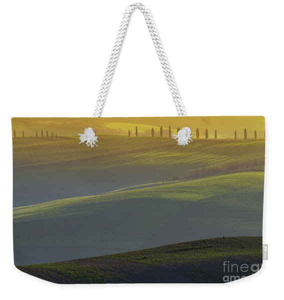 Tuscan Hilly Scenery With Cypress Trees Weekender Tote Bag