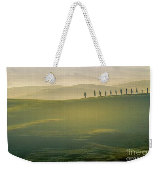 Tuscany Landscape With Cypress Trees Weekender Tote Bag