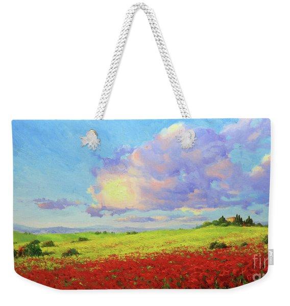 Tuscany Poppies In Bloom Weekender Tote Bag