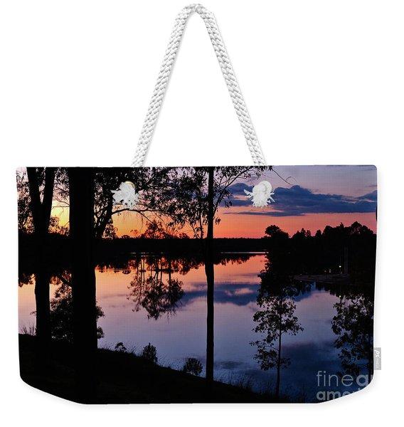 Twilight By The Lake Weekender Tote Bag