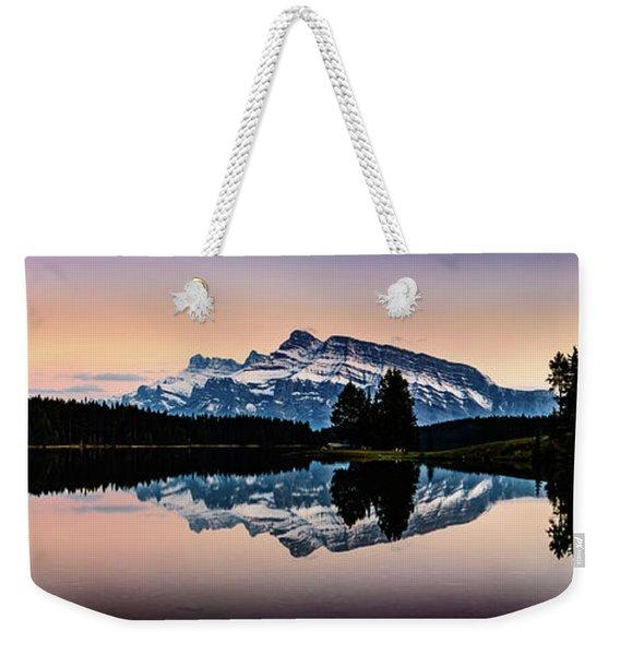 Twilight, Two Jack Lake Weekender Tote Bag