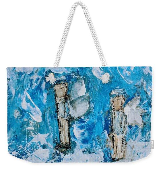 Twin Boy Angels Weekender Tote Bag