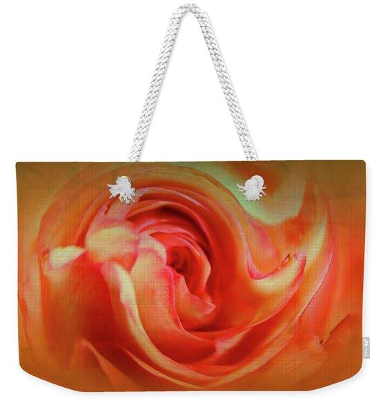 Twirling Rose Weekender Tote Bag