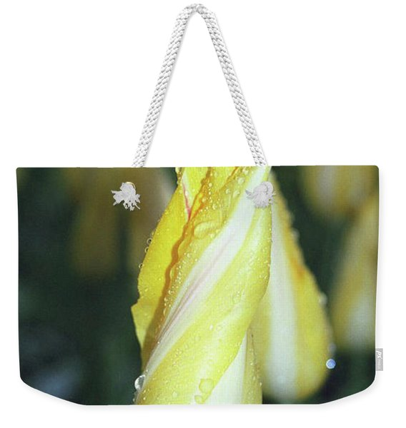 Twisted Yellow Tulip Weekender Tote Bag