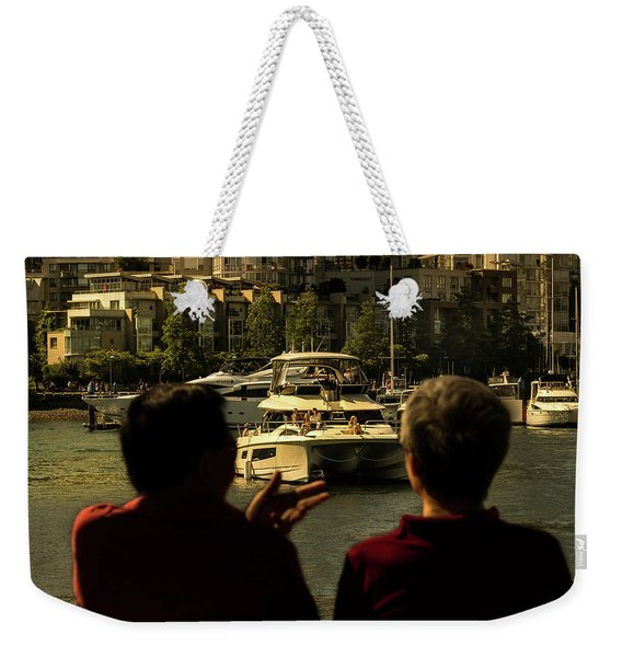 Two Friends At The Vancouver Bay Weekender Tote Bag
