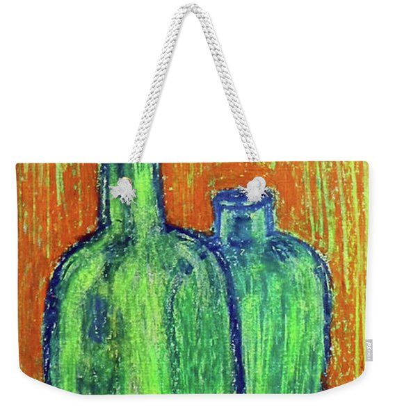 Two Green Bottles Weekender Tote Bag