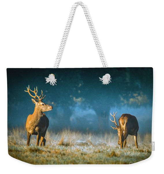 Two Stags Weekender Tote Bag