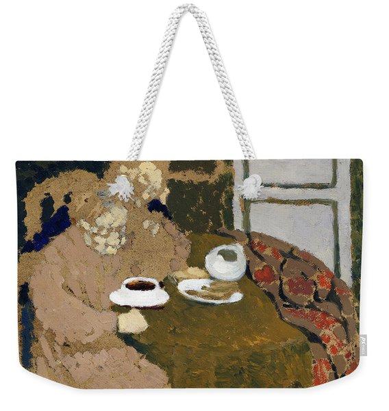 Two Women Drinking Coffee - Digital Remastered Edition Weekender Tote Bag