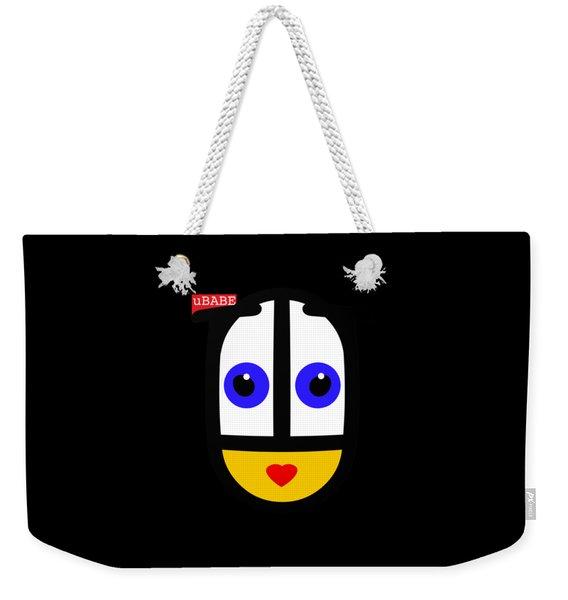 uBABE Black Weekender Tote Bag