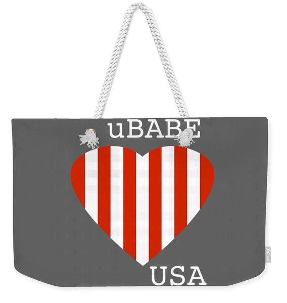 uBABE USA Weekender Tote Bag