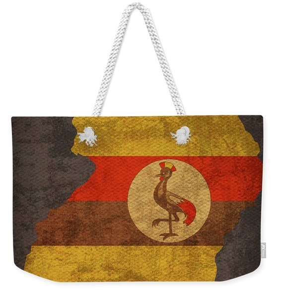 Uganda Country Flag Map Weekender Tote Bag
