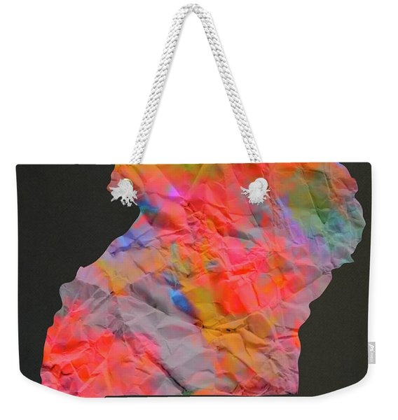 Uganda Tie Dye Country Map Weekender Tote Bag